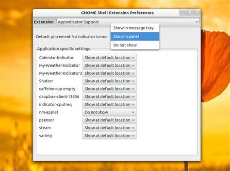 ocultar barra superior gnome soporte de appindicator para gnome shell identi
