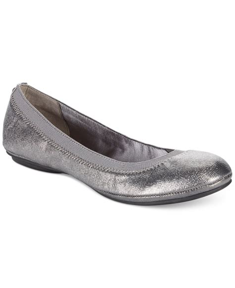 Flat Shoes Marc Edition For Pl17 lyst bandolino edition ballet flats in metallic
