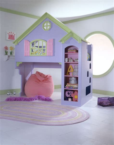 house bed for girl doll house loft bunk bed themed for a girl s rooms