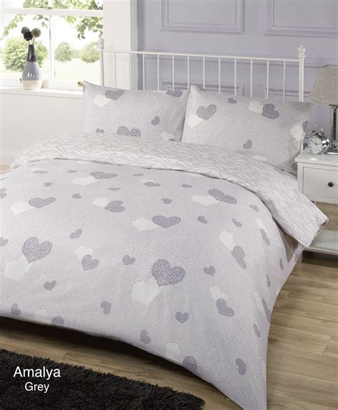 Single Bed Quilt Covers Duvet Quilt Cover Bedding Set Grey Single King