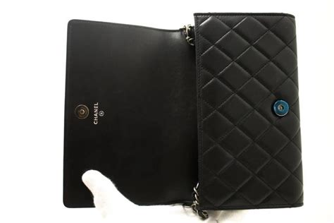 Chanel 1606 Leather chanel boy woc wallet on chain bag clutch black quilted flap at 1stdibs