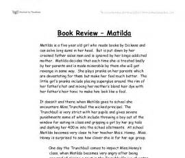 Samples Of Book Reports Book Review Of Matilda Gcse English Marked By