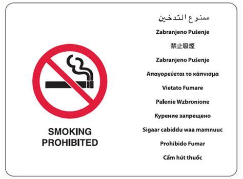 no smoking sign english arabic smoking prohibited multilingual signs