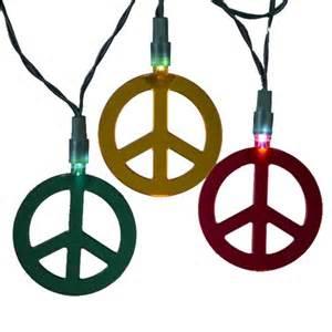 peace sign string lights indoor string lights kurt adler 10 light multi color