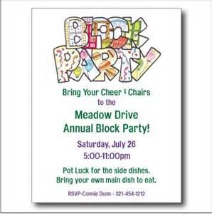 Block party invitation custom sooboo cards on artfire