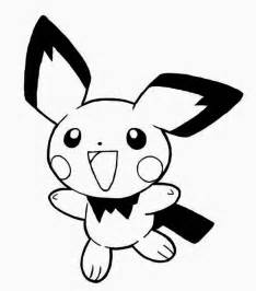 Pichu is so excited coloring page color luna