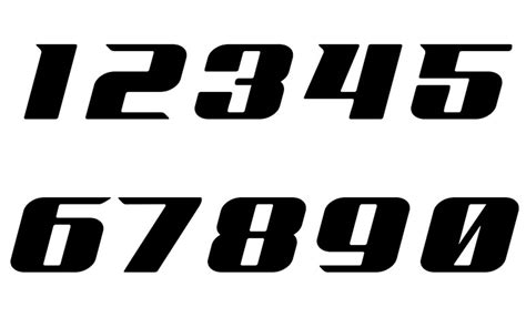 Auto Decal Numbers by Sticker Number Cars Bikes Font 6 Racing Numbers Decal Ebay