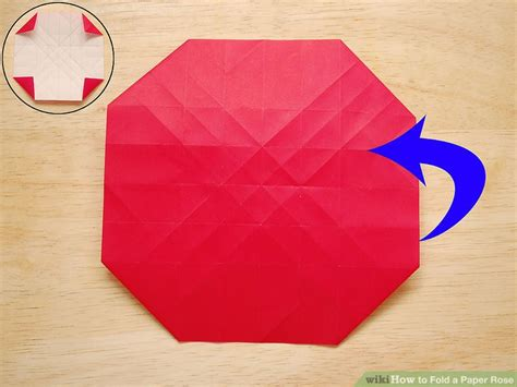 Folding Paper Roses - how to fold a paper with pictures wikihow
