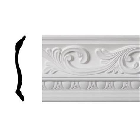 decorative crown moulding home depot lynea molding wave collection 8 in x 8 ft polyurethane