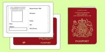 uk passport template passport template passport design