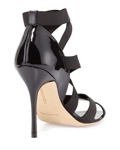 Sandal Elastis Black manolo blahnik platee strappy elastic sandal black