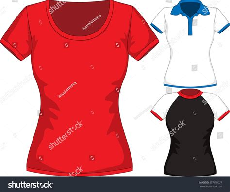 Different Designs Of Shirts Vector Set Design Template Tshirts Stock Vector