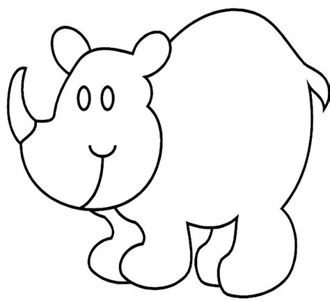 rhino coloring pages coloringpages1001