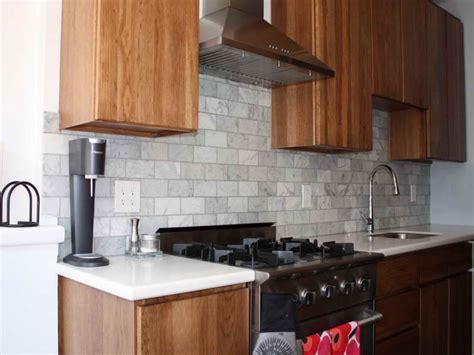 grey kitchens with black appliances gray subway tile