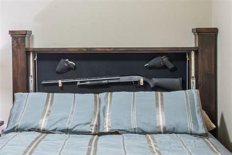 Knotty Alder Cabinets by Hidden Gun Storage Headboard Willa Hide Hidden Gun Furniture