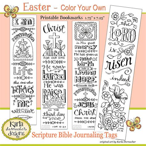 printable bible verse tags this color your own easter bible verse bible journaling