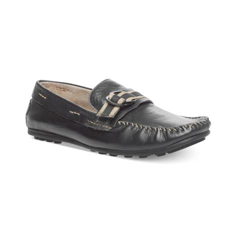 steve madden loafers for steve madden koltt slip on loafers in black for lyst