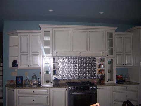 tin tile backsplash for kitchen with kitchen colors