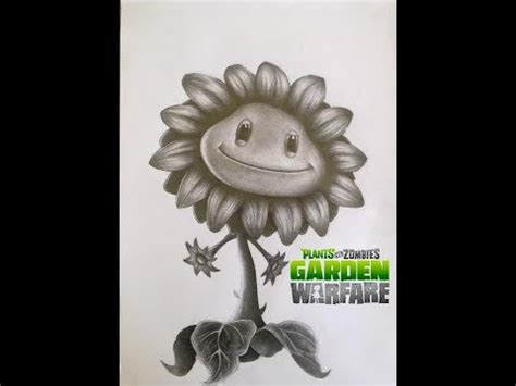 imagenes de zombies a lapiz dibujo de sunflower girasol de plantas vs zombies garden