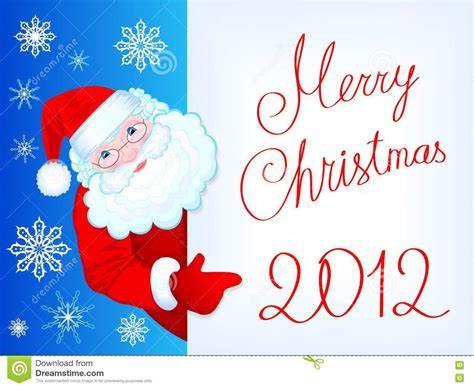 merry christmas l post merry christmas 2012 post card with kind santa cla stock