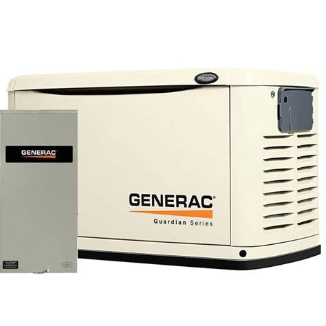 generac 6729 20kw steel automatic standby generator with
