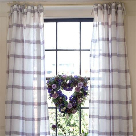 how to sew tie top curtains make your own curtains