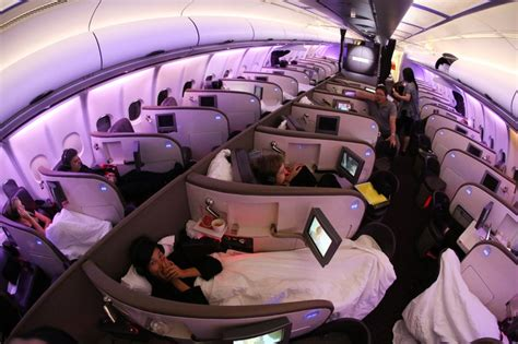 airplanes with beds virgin atlantic flight to asia complete with beds and