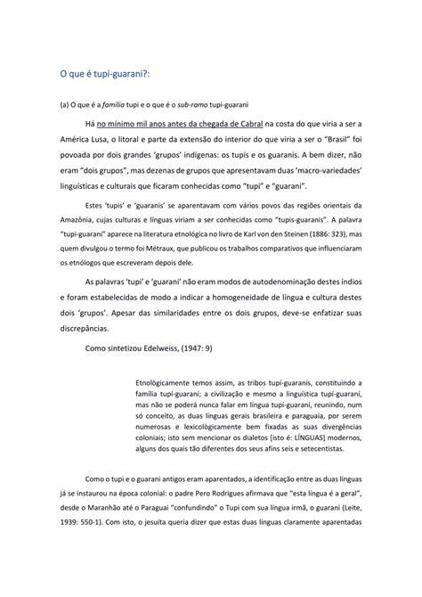 (PDF) tupi-guarani