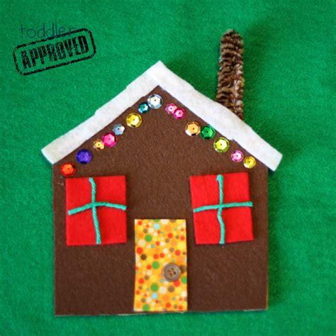 gingerbread house craft for toddler approved crafts easy felt gingerbread