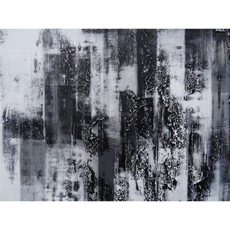 Tableau Moderne Noir Et Blanc by Peinture Design Tableau Abstrait Contemporain Blanc Noir