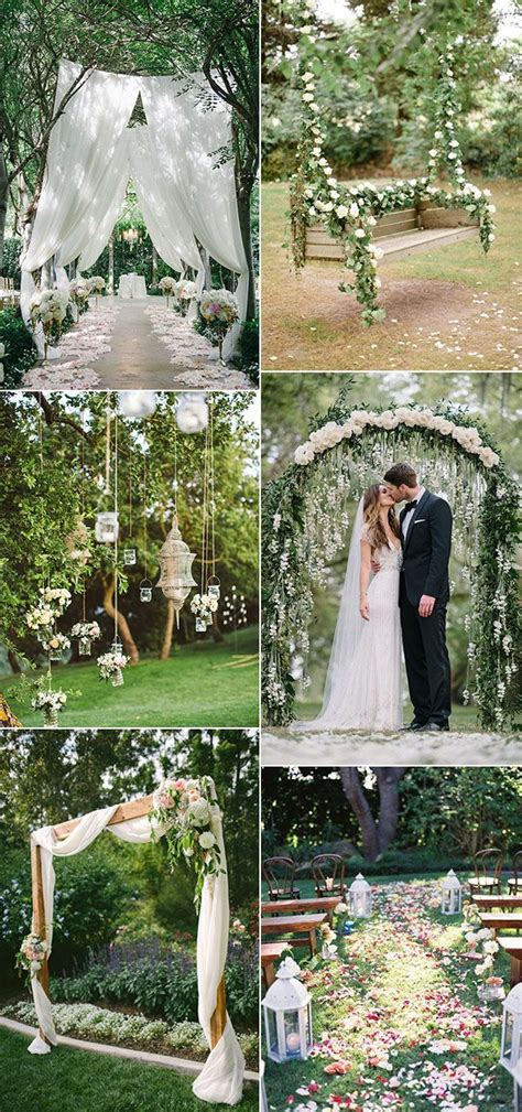 Garden Ceremony Ideas 30 Totally Breathtaking Garden Wedding Ideas For 2017 Trends Themed Weddings Decoration And