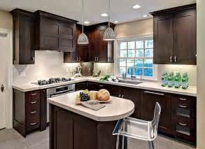 Small Kitchen Countertop Ideas by Small Kitchen Remodeling With Modern Dark Brown And