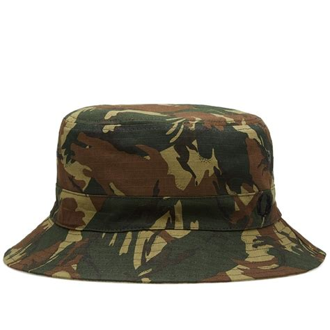 in camo hats fred perry camo reversible fisherman hat in green jon barrie