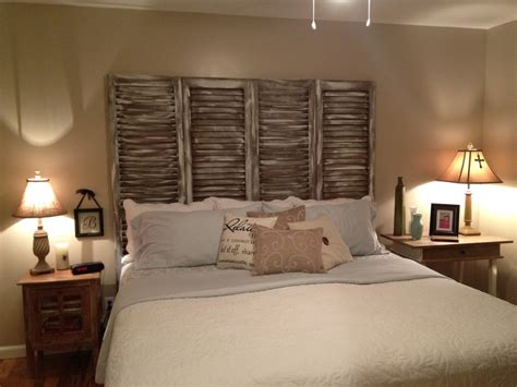 headboard made from shutters headboard we made out of shutters our townhouse heaven