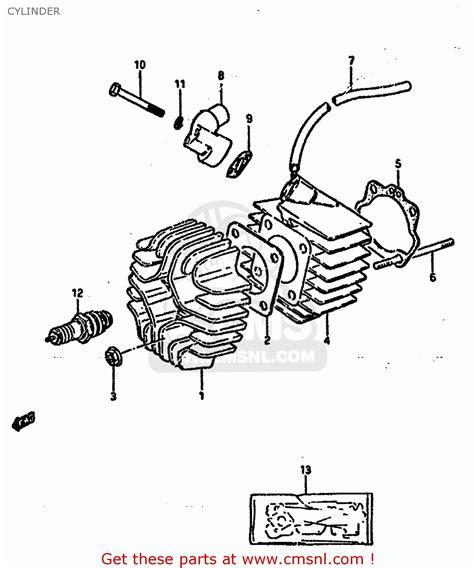 Suzuki Lt50 1984 E Cylinder Schematic Partsfiche