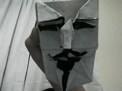 Origami Fawkes Mask - fawkes mask in origami voila