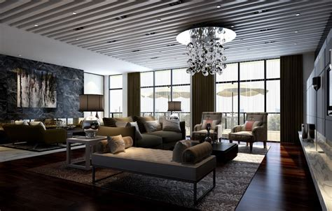 decorating large living room modern house
