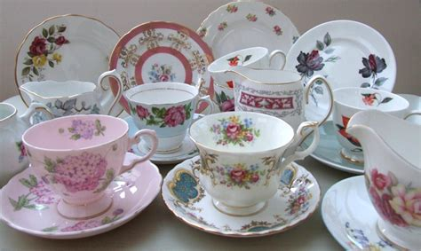 shabby chic tea set vintage shabby floral chic various china pieces mismatched