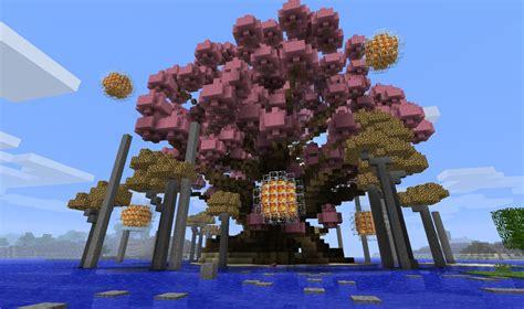 cherry tree minecraft cherry tree minecraft project