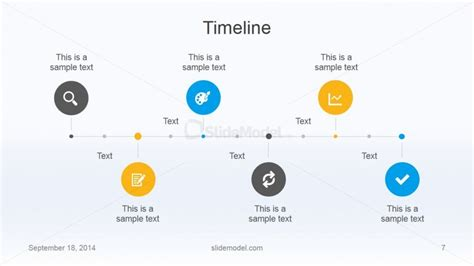 flat business timeline template design slidemodel