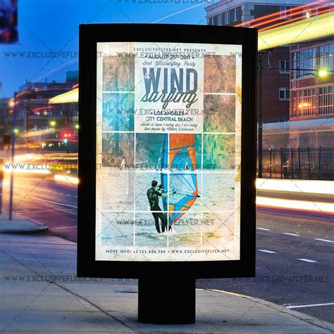 windsurfer template windsurfing premium a5 flyer template exclsiveflyer