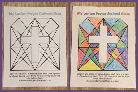 Lenten prayer stained glass free printable enter under my roof