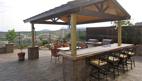 outdoor kitchen roof ideas pavers bar stools pergola roof outdoor kitchen bar