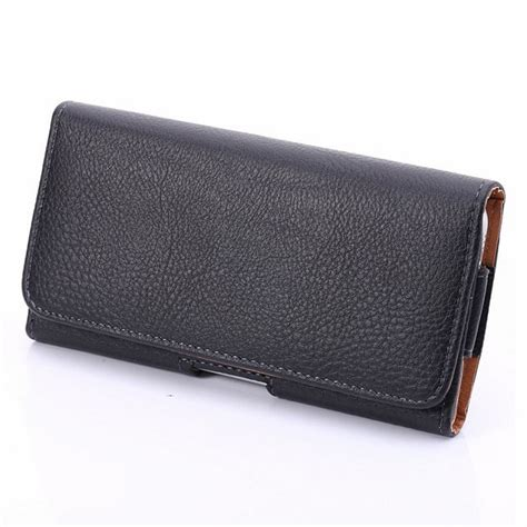 Original Samsung Universal Leather Pouch For Iphone 55s5se Etc black holster leather phone belt clip for iphone 6