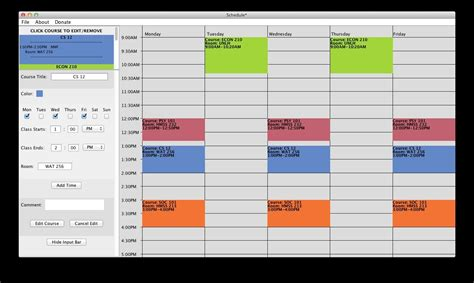 Free College Schedule Maker Builder Link In Description Youtube Creator Template