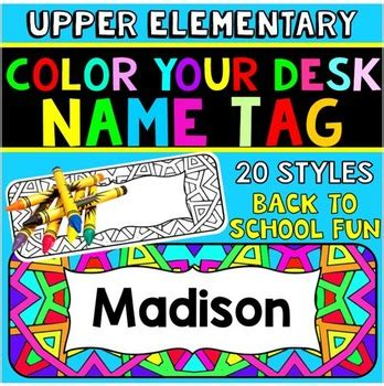 desk name plates for students desk name tags name plates by elementary lesson plans tpt