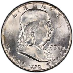 1959 franklin half dollar values and prices past sales