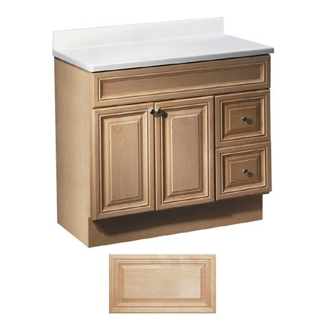 Lowes Vanity Bathroom Shop Insignia Ridgefield Maple Traditional Bathroom Vanity Common 36 In X 21 In