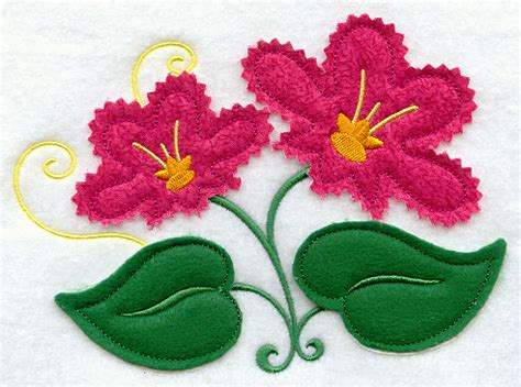 flower applique machine embroidery designs at embroidery library
