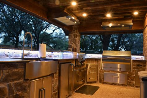 outdoor kitchen lights a rustic outdoor kitchen addition medford remodeling